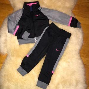 Pink/Grey Nike Toddler Outfit